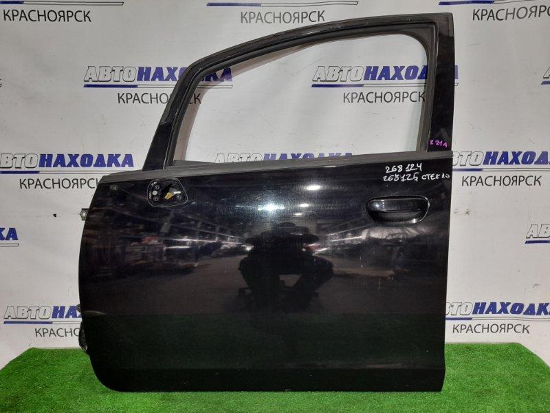 Дверь Mitsubishi Colt Z21A 4A90 2002 передняя левая FL цвет X42A в ХТС. Без стекла.