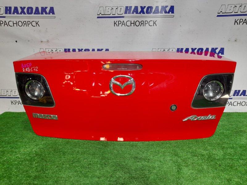 Крышка багажника Mazda Axela BK5P ZY-VE 2006 задняя в сборе, с фонарями P2775 цвет A4A, в ХТС.