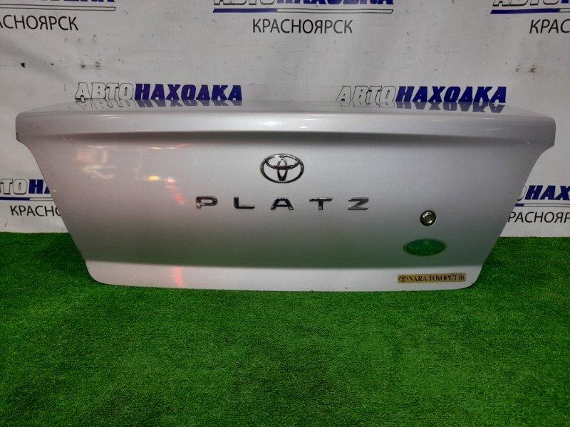Крышка багажника Toyota Platz NCP12 1NZ-FE 1999 задняя 1 мод., цвет 1C0. в сборе. Почти ХТС (есть