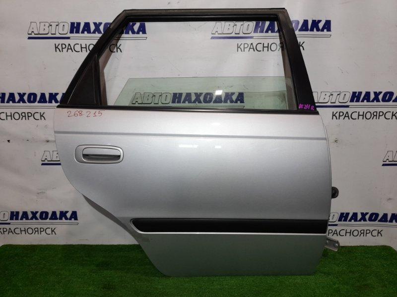 Дверь Toyota Caldina AT211G 7A-FE 1997 задняя правая RR в сборе. Цвет 199. Почти в ХТС.