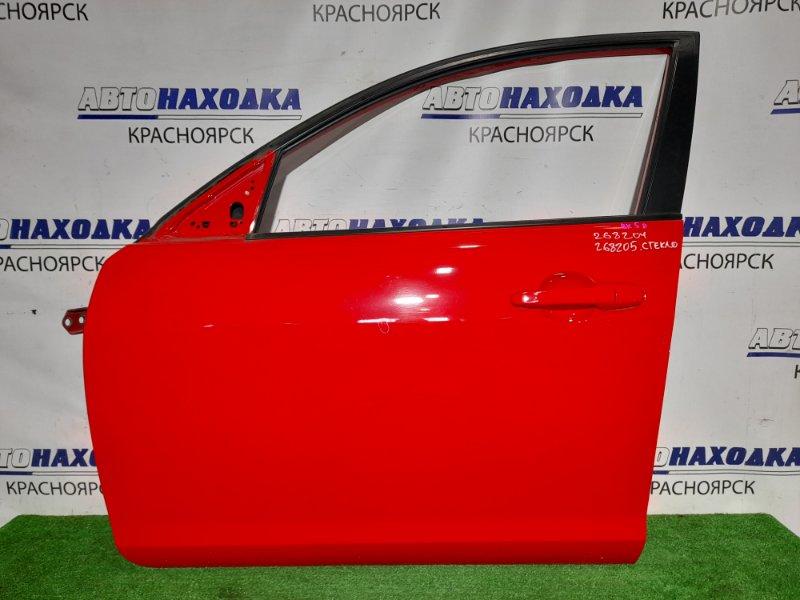 Дверь Mazda Axela BK5P ZY-VE 2006 передняя левая FL . Седан. Цвет A4A. Почти в ХТС. Без стекла