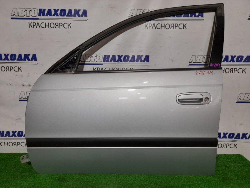 Дверь Toyota Caldina AT211G 7A-FE 1997 передняя левая FL в сборе. Цвет 199. В ХТС.