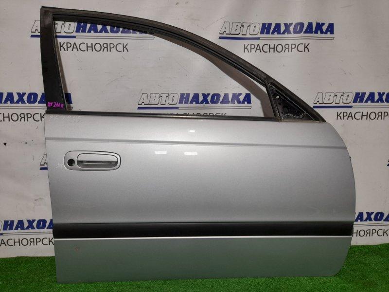 Дверь Toyota Caldina AT211G 7A-FE 1997 передняя правая FR в сборе. Цвет 199. В ХТС. есть тычка.