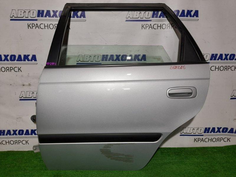 Дверь Toyota Caldina AT211G 7A-FE 1997 задняя левая RL в сборе. Цвет 199. Есть подкрас ниже молдинга