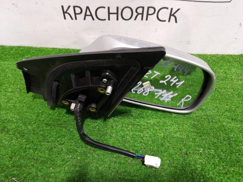 Зеркало Toyota Caldina ZZT241W 1ZZ-FE 2005 переднее правое правое, 7 контактов. Цвет 1F7. Есть царапинки