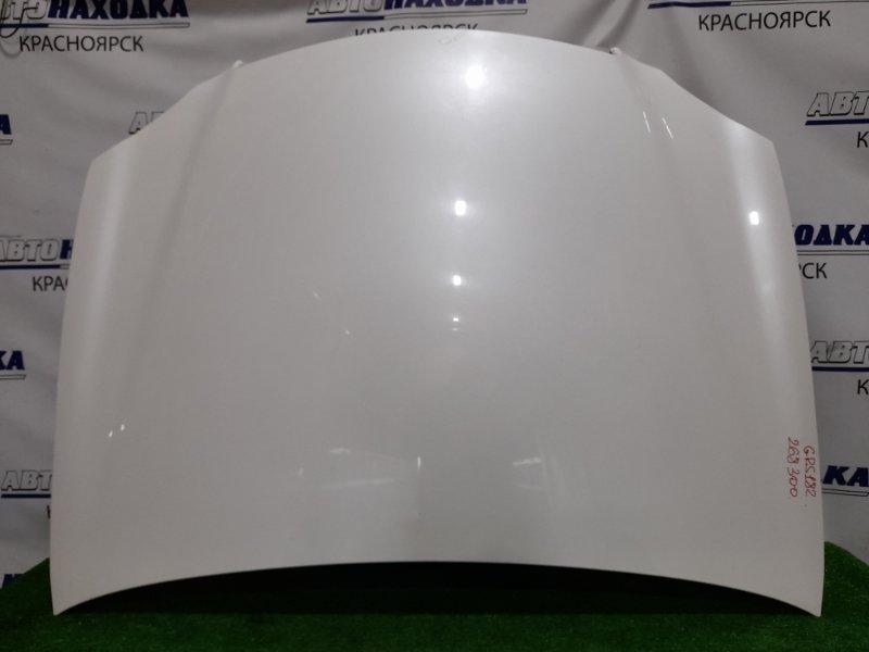 Капот Toyota Crown GRS182 3GR-FSE 2003 алюминиевый. В ХТС. Без решетки.
