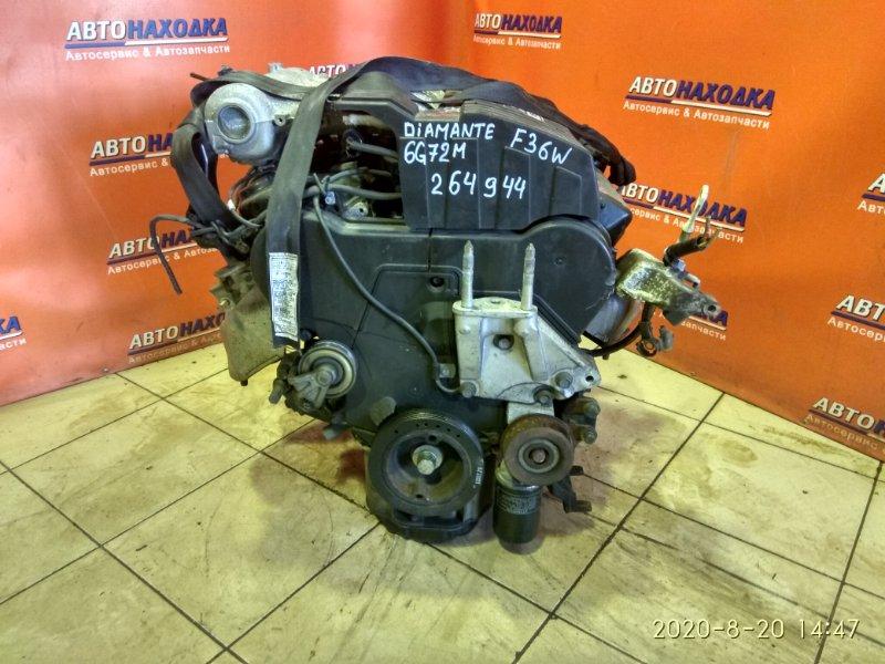 Двигатель Mitsubishi Diamante F36W 6G72 ГОЛЫЙ , 72T.KM,