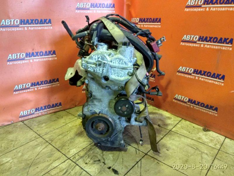 Двигатель Nissan Wingroad Y12 HR15DE ГОЛЫЙ 81T.KM