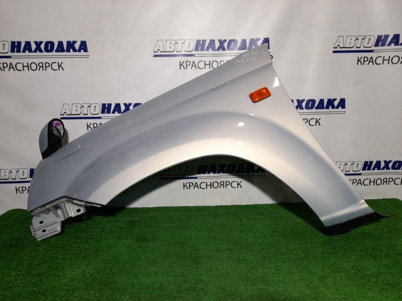 Крыло Nissan X-Trail NT30 QR20DE 2000 переднее левое FL с зеркалом и поворотником, почти в ХТС, цвет KX2