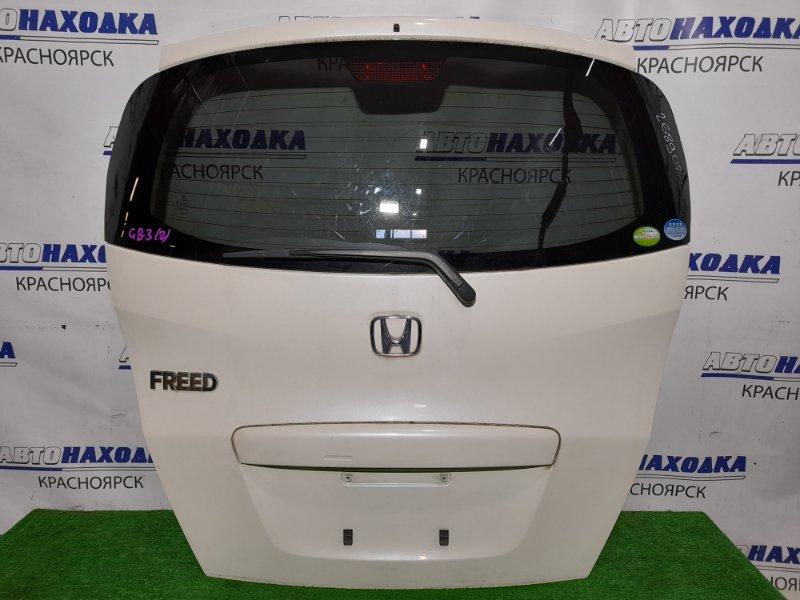 Дверь задняя Honda Freed GB3 L15A 2008 задняя в сборе, в ХТС, цвет NH624P