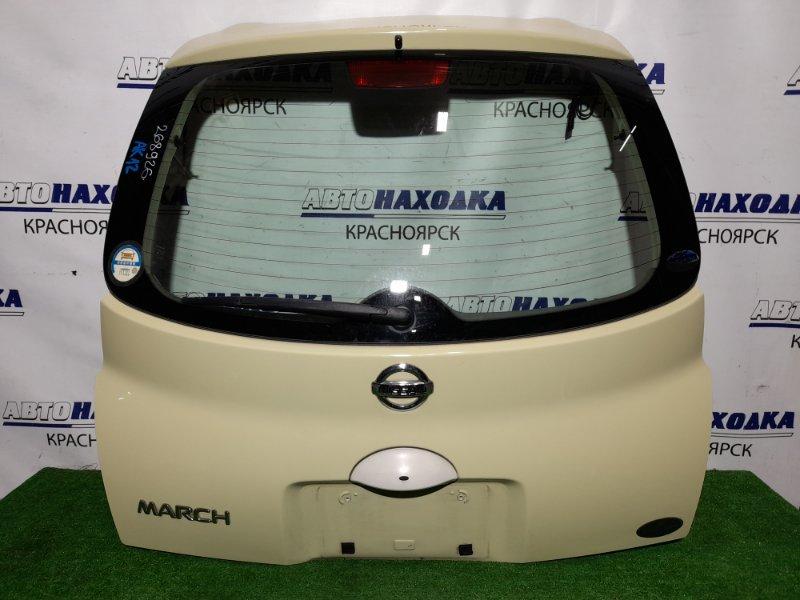 Дверь задняя Nissan March AK12 CR12DE 2002 задняя В сборе. Цвет J11. В ХТС.