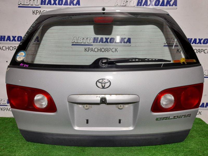 Дверь задняя Toyota Caldina AT211G 7A-FE 1997 задняя В сборе. 1 мод. Цвет 199. В ХТС, но ручка сломана *