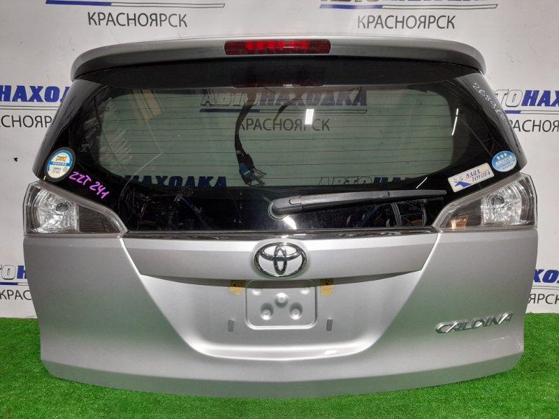 Дверь задняя Toyota Caldina ZZT241W 1ZZ-FE 2005 задняя В сборе. 2 мод. В ХТС. Цвет 1F7
