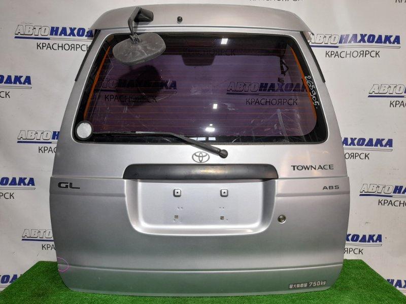 Дверь задняя Toyota Lite Ace KR42V 7K 1996 задняя В сборе ,высокая крыша, почти в ХТС, цвет 1A0, с