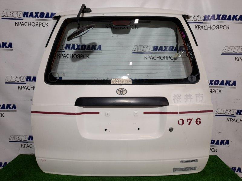Дверь задняя Toyota Lite Ace KR41V 5K 1996 задняя в сборе, низкая крыша, цвет 058.