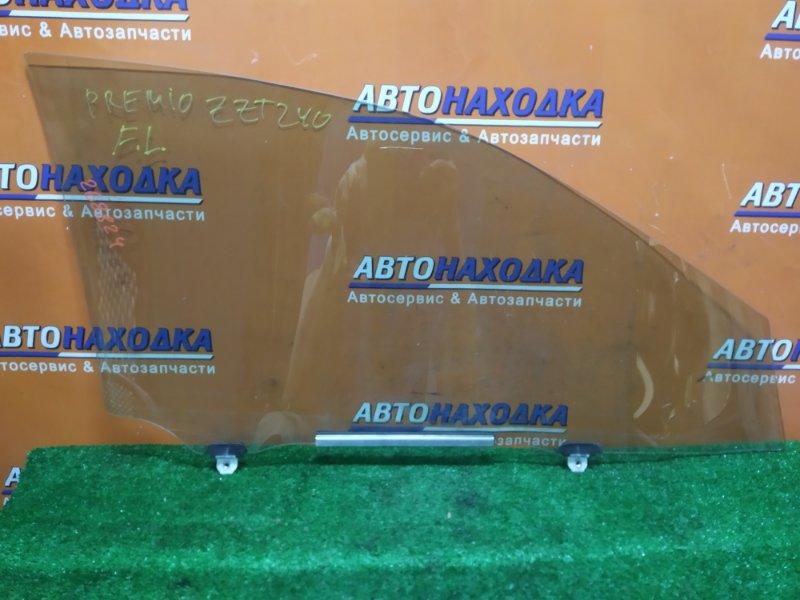 Стекло боковое Toyota Premio ZZT240 1ZZ-FE 05.2007 переднее левое