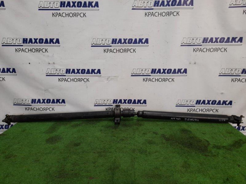 Карданный вал Nissan X-Trail NT30 QR20DE 2000 в сборе А/Т, пыльник в ХТС.