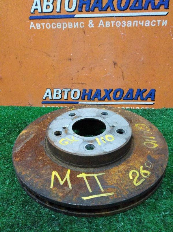 Диск тормозной Toyota Mark Ii GX110 1G-FE передний Ф275, T25, 5 ШПИЛЕК, MARK 2 GX110,
