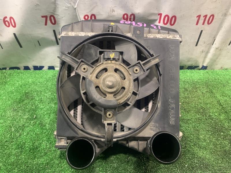 Радиатор интеркулера Smart Fortwo 450.352 160.910 2003 в сборе с вентилятором