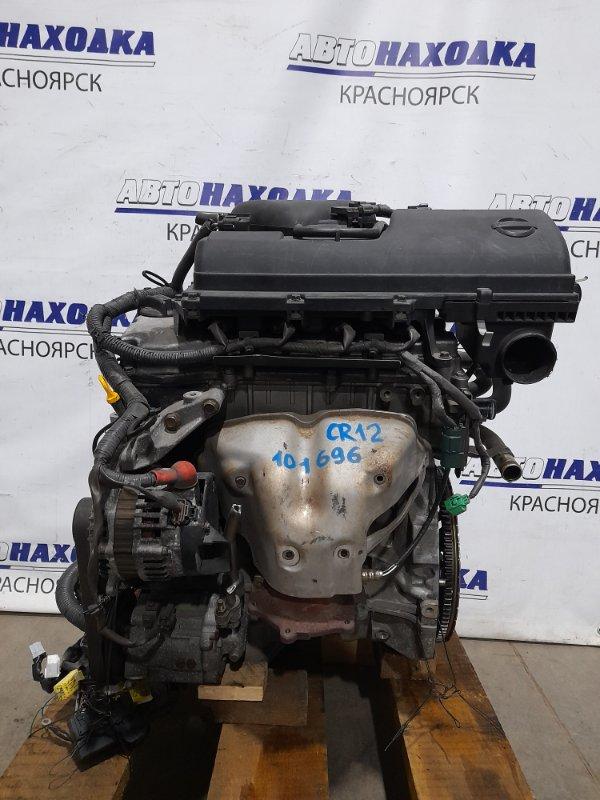 Двигатель Nissan March AK12 CR12DE 2002 № 101696, пробег всего 27 т.км.! В сборе! ОТС! С аукционного