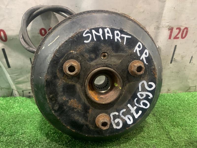 Ступица Smart Fortwo 450.352 160.910 2003 задняя правая RR в сборе (барабан, колодки, РТЦ, кожух, трос