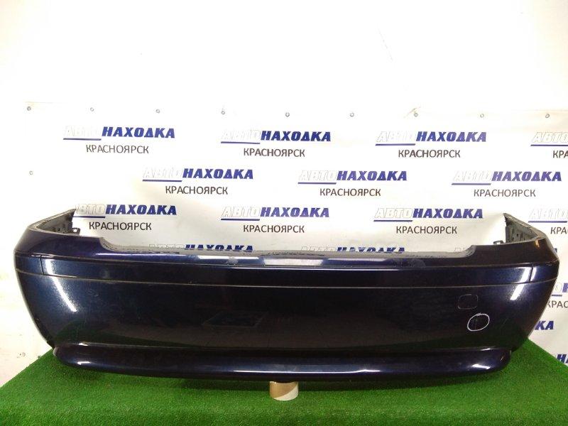 Бампер Bmw 735I E65 N62B36 2001 задний задний, 1 модель, темно-синий (317), вмятинка, потертости