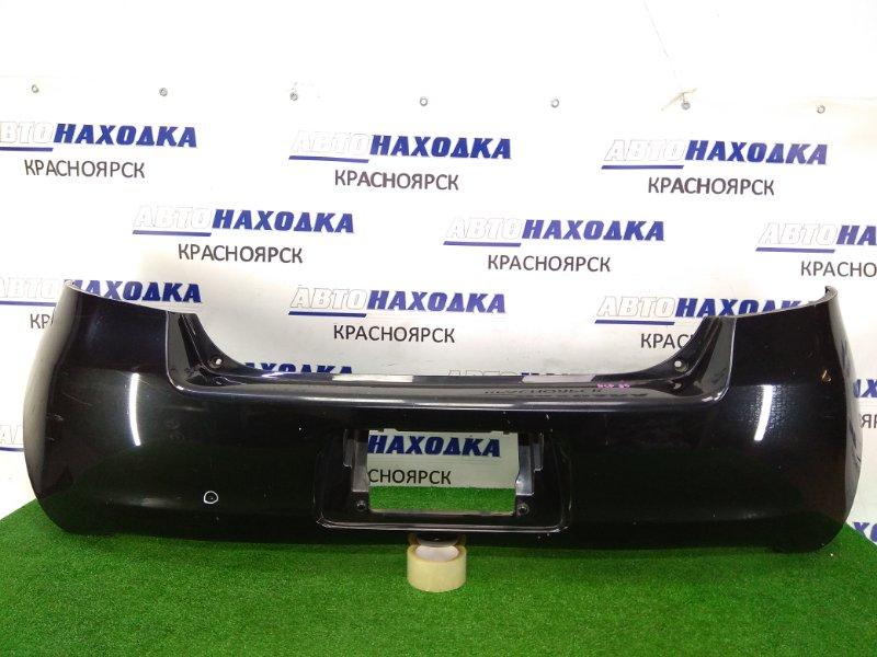 Бампер Toyota Vitz SCP90 2SZ-FE 2005 задний задний, 1 модель, черный (209), с подсветкой, вмятинка,