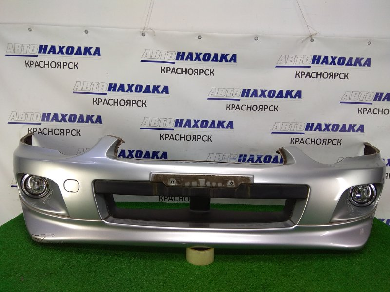 Бампер Subaru Impreza GG2 EJ15 2002 передний передний, серый (01G), 2 модель, с туманками (198-11777), с