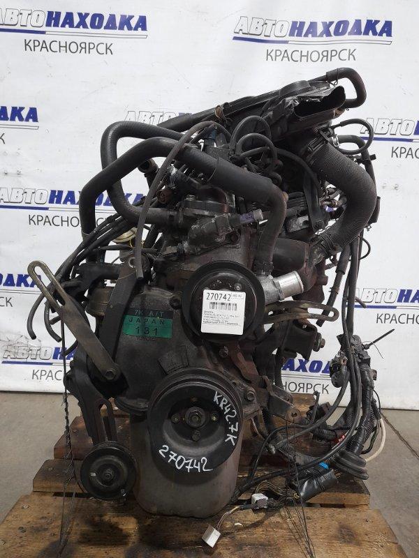 Двигатель Toyota Lite Ace KR42V 7K 1996 № 0221776 пробег 73 т.км. Карбюраторный. В ХТС. С аукционного