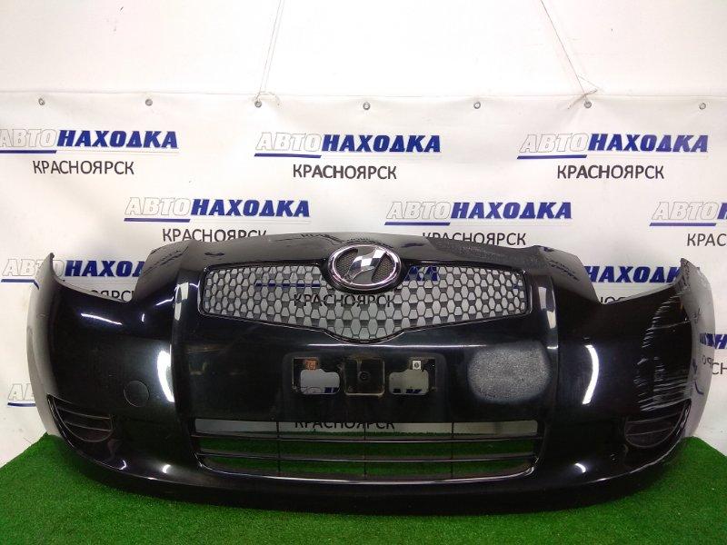 Бампер Toyota Vitz SCP90 2SZ-FE 2005 передний передний, 1 модель, черный (209), с заглушками,