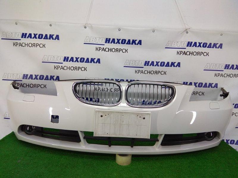 Бампер Bmw 525I E60 N52B25 2003 передний в ХТС, передний, белый (300), 1 мод., туманки, , под