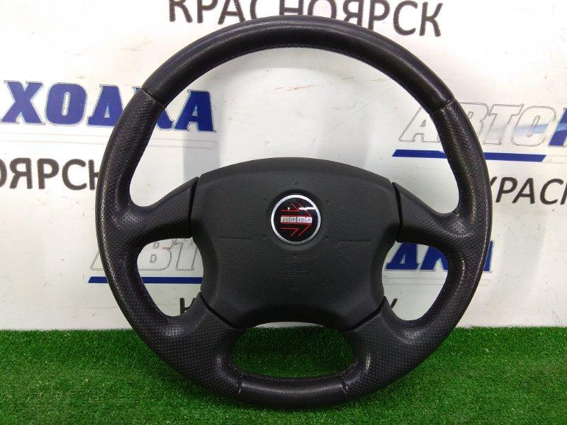 "Airbag Subaru Impreza GG2 EJ15 2000 С рулём- кожа, 4 спицы ""MOMO"", с подушкой безопасности, без заряда,"