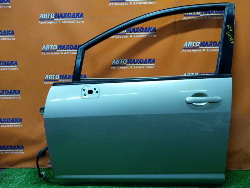 Дверь Nissan Tiida SC11 HR15DE передняя левая БЕЗ СТЕКЛА И С/П, УГОЛ ЗАГНУТ СНИЗУ,