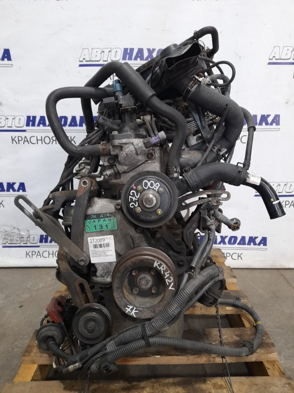 Двигатель Toyota Lite Ace KR42V 7K 1996 0168782 № 0168782 пробег 41 т.км. Карбюраторный. В ХТС. С