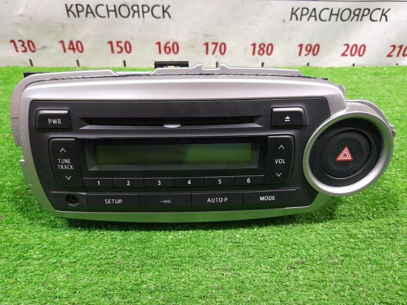 Магнитола Toyota Vitz KSP130 1KR-FE 2010 штатная магнитола TOYOTA , с фишками, рамкой, кнопкой