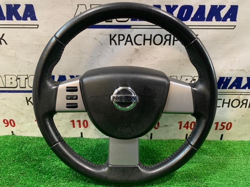 Airbag Nissan Murano PNZ50 VQ35DE 2004 водительский, с рулем, кожа, с кнопками, без подушки, без