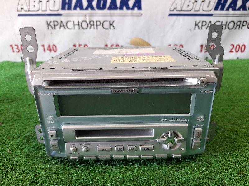 Магнитола Nissan Wingroad WFY11 QG15DE 2001 CARROZZERIA FH-515MD , CD/MD фишками и креплениями