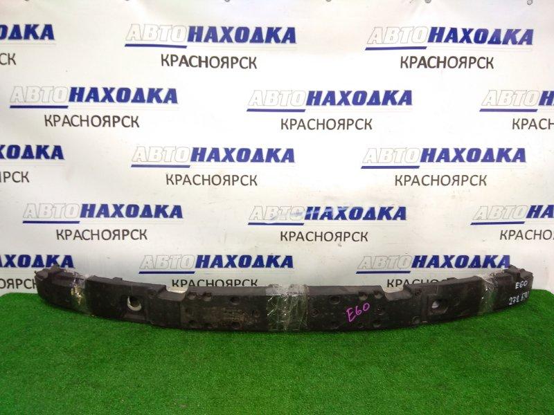 Усилитель бампера Bmw 525I E60 N52B25 2003 передний 7148586-01 передний швеллер, алюминиевый, с