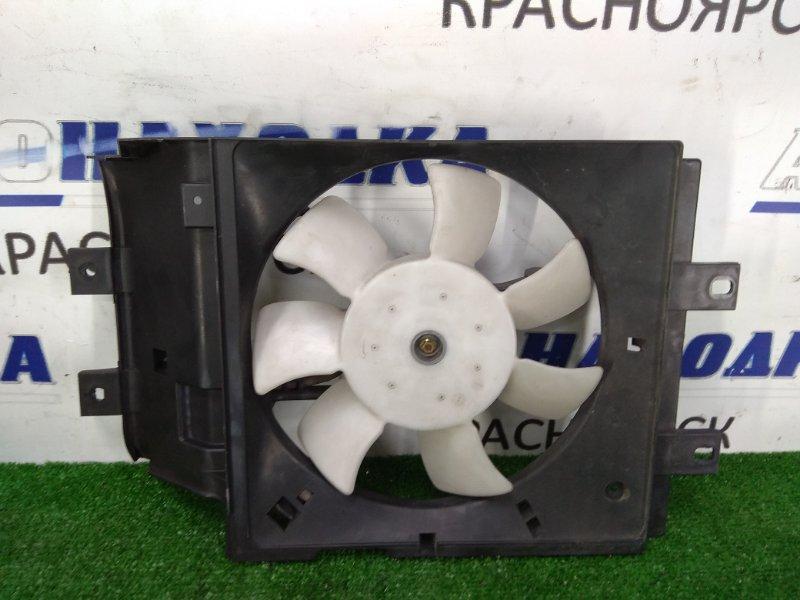 Вентилятор радиатора Nissan March HK11 CG13DE 1997 на кондиционер, с диффузором