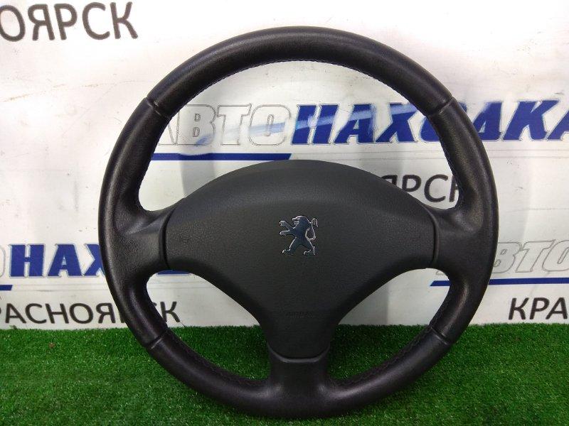 Airbag Peugeot 308 T7 EP6DT 2007 передний правый ХТС, водительский, без заряда, с рулем, кожа, черный