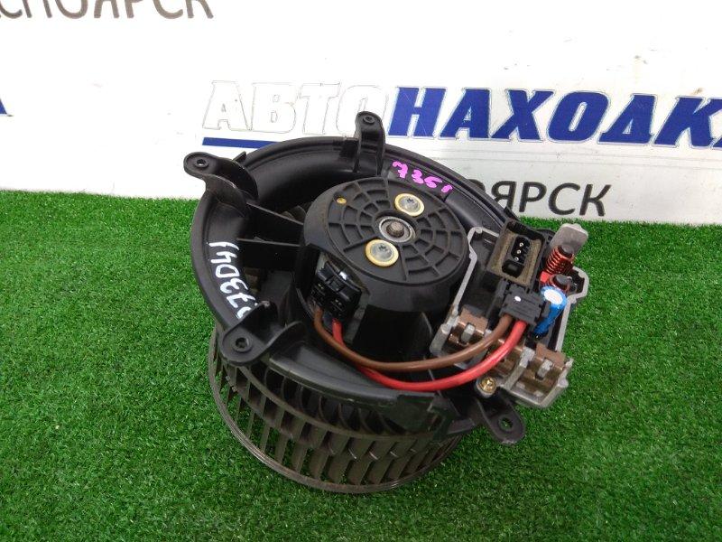 Мотор печки Bmw 735I E65 N62B36 2001 с реостатом, 3 контакта, крыльчатка под правый руль