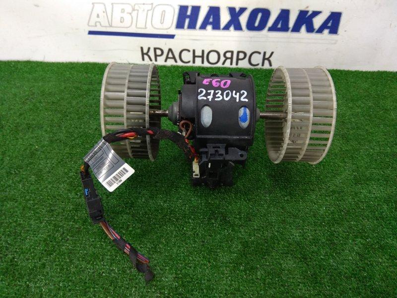 Мотор печки Bmw 525I E60 N52B25 2003 с 2-мя крыльчатками, с реостатом, правый = левый руль