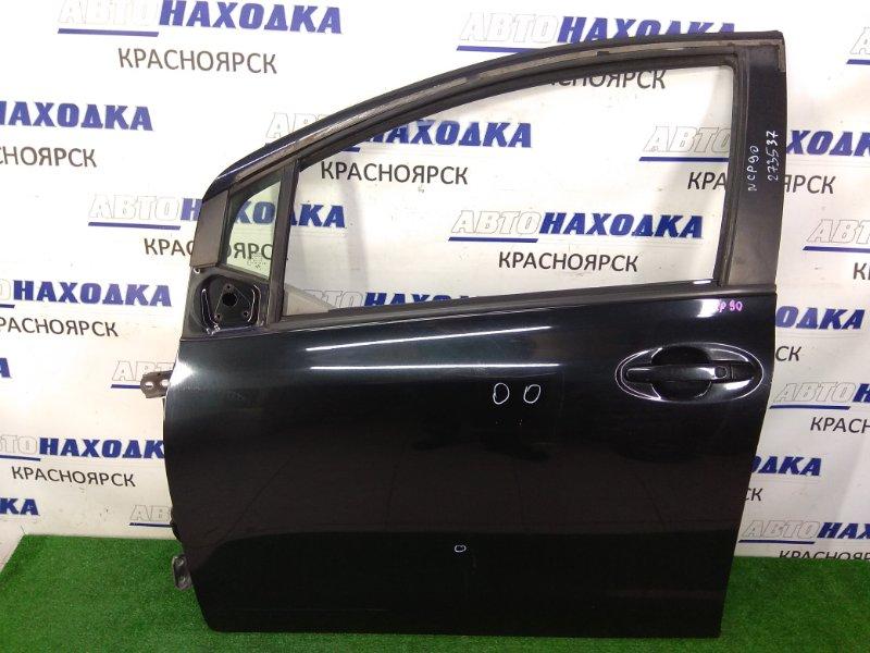 Дверь Toyota Vitz SCP90 2SZ-FE 2005 передняя левая передняя левая, черная (209), вмятинки, потертости,