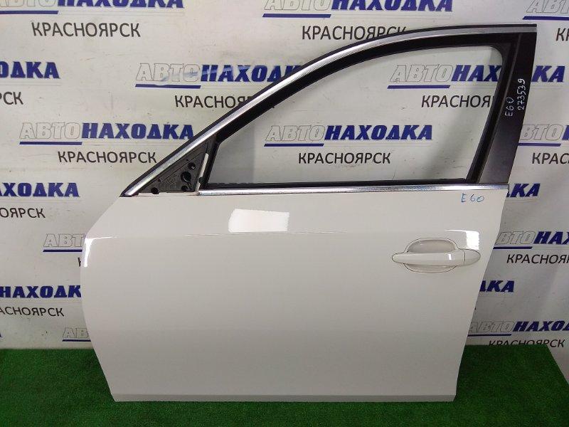 Дверь Bmw 525I E60 N52B25 2003 передняя левая ХТС, передняя левая, в сборе, белая (300), без подушки и