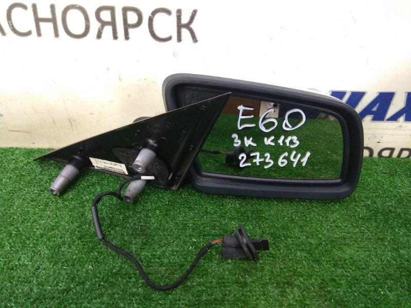 Зеркало Bmw 525I E60 N52B25 2003 переднее правое ХТС, правое, белое (300), 3 контакта