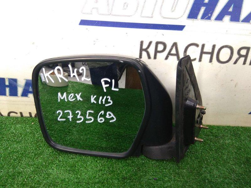 Зеркало Toyota Lite Ace KR42V 7K 1996 переднее левое левое, некрашеное, механическое, потертости