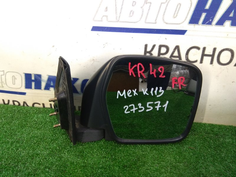 Зеркало Toyota Lite Ace KR42V 7K 1996 переднее правое ХТС, правое, некрашеное, механическое