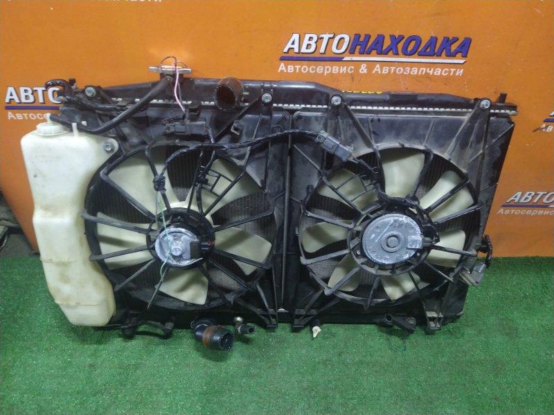 Радиатор двигателя Honda Odyssey RB1 K24A 2005 AT, В СБОРЕ, +ДАТЧИК