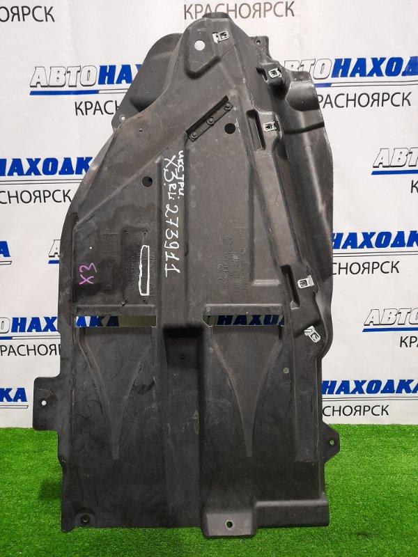 Защита топливного бака Bmw X3 E83 N52B25A 2006 задняя левая Левая (защита днища антигравийная)