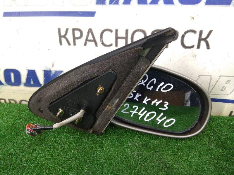 Зеркало Nissan Bluebird Sylphy QG10 QG18DE 2000 переднее правое в целом ХТС, правое, серое (KX4), 5